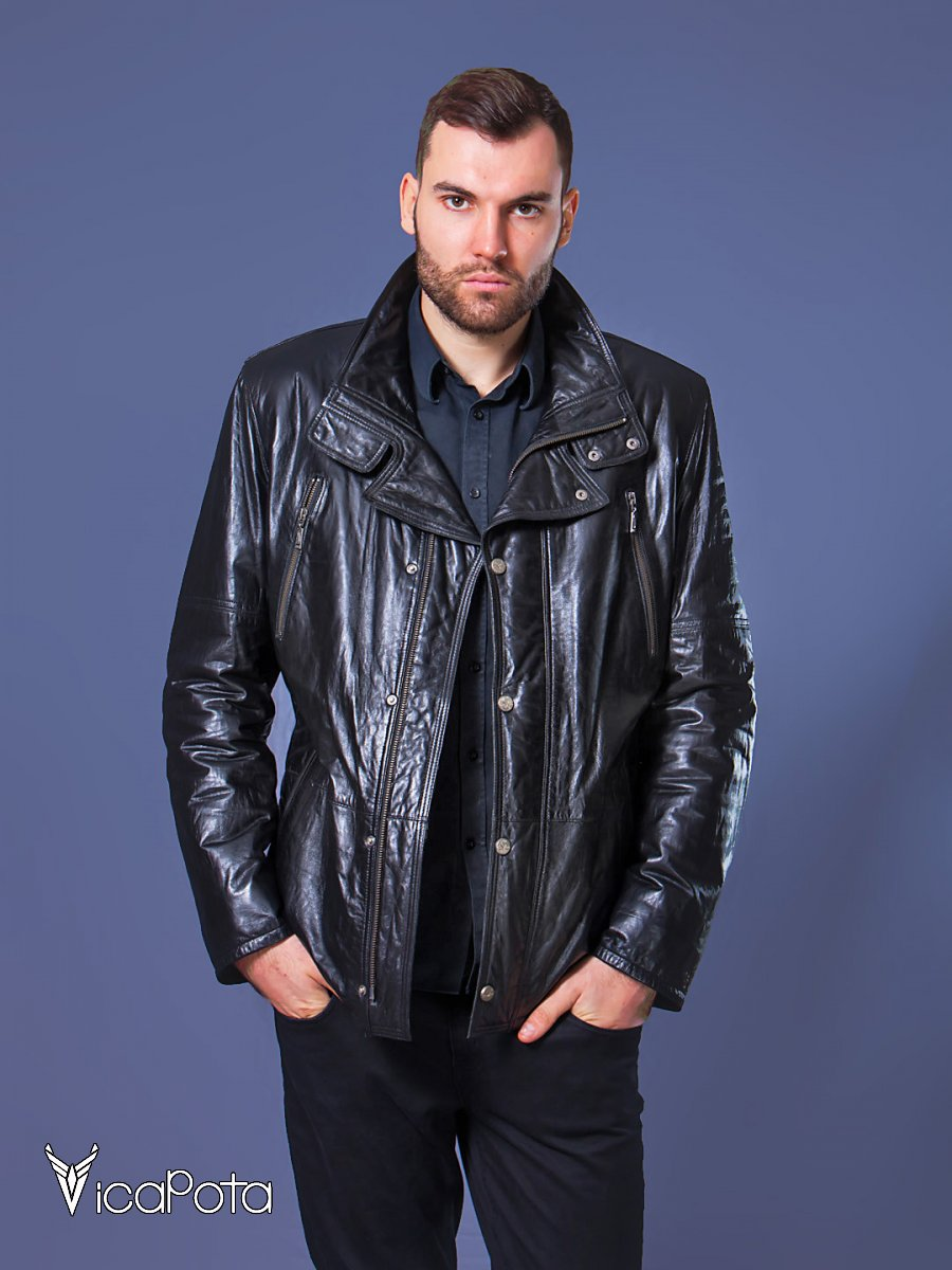 Кожаная куртка блеск