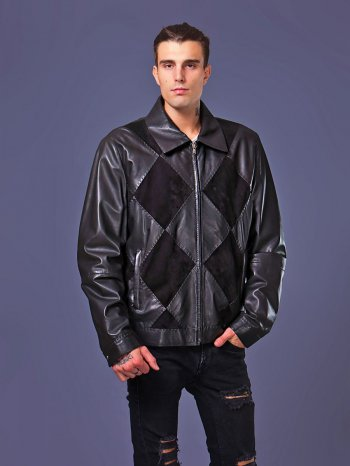 E-1464 ast Мужск. Mari & Possa Zig Black Корот. XXXXL